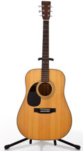 Musical Instruments:Acoustic Guitars, 1989 Sigma By Martin DM4 Left Handed Natural Acoustic Guitar, #89056774....