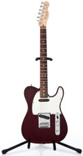 Musical Instruments:Electric Guitars, 1990 Fender Telecaster Wine Solid Body Electric Guitar #N947448....