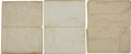 Autographs:Artists, Civil War: Henry C. Koch Seven Small Leather Notebooks... (Total: 7Items)