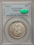 Commemorative Silver: , 1938-S 50C Arkansas MS64 PCGS. CAC. PCGS Population (286/221). NGCCensus: (210/160). Mintage: 3,156. Numismedia Wsl. Price...