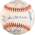 Baseball Collectibles:Balls, 1996 New York Yankees Team Signed Baseball (19 Signatures) - Championship Season! ...