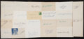 Baseball Collectibles:Others, Baseball Stars Signed Index Cards Lot of 22....