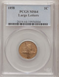 Flying Eagle Cents, 1858 1C Large Letters MS64 PCGS....