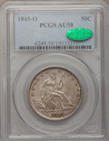 Seated Half Dollars, 1845-O 50C AU58 PCGS. CAC. PCGS Population (7/20). NGC Census:(17/26). Mintage: 2,094,000. Numismedia Wsl. Price for probl...