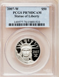 Modern Bullion Coins, 2007-W $50 Half-Ounce Platinum Eagle PR70 Deep Cameo PCGS. PCGSPopulation (323). NGC Census: (0). Numismedia Wsl. Price f...