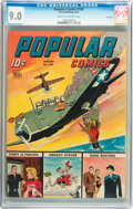 Golden Age (1938-1955):War, Popular Comics #102 File Copy (Dell, 1944) CGC VF/NM 9.0 Cream tooff-white pages....