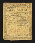 Colonial Notes:Continental Congress Issues, Continental Currency February 17, 1776 $1/2 Very Good-Fine.. ...