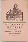 Books:First Editions, Lawrence Clark Powell. Bookman's Progress. [n. p.]: WardRitchie Press, 1968. First edition. Octavo. Publisher's bin...