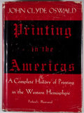 Books:First Editions, John Clyde Oswald. Printing in the Americas. New York: GreggPublishing, [1937]. First edition. Octavo. Publisher's ...