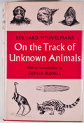 Books:First Editions, Bernard Heuvelmans. On the Track of Unknown Animals. NewYork: Hill and Wang, [1958]. First American edition. Octavo...