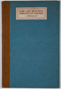 Books:First Editions, J. Christian Bay. Rare and Beautiful Imprints of Chicago.Chicago: Bibliographical Society of America, 1922. First e...