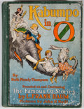 Books:Children's Books, Ruth Plumly Thompson. Kabumpo in Oz. Chicago: Reilly &Lee, [1922]. Octavo. Publisher's binding. Illustrated by Jo...
