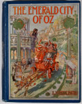 Books:Children's Books, L. Frank Baum. The Emerald City of Oz. Chicago: Reilly &Britton, [1910]. Octavo. Publisher's binding. Illustrated...