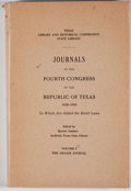 Books:First Editions, Harriet Smither [editor]. Journals of the Fourth Congress of theRepublic of Texas 1839-1840. Austin: Texas Library,...