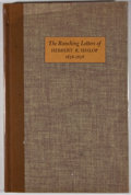 Books:First Editions, [Herbert R. Hislop]. LIMITED. An Englishman's Arizona:The Ranching Letters of Herbert R. Hislop 1876-1878. Tucs...