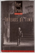 Books:Signed Editions, Peter Brook. SIGNED. Threads of Time. Washington: Counterpoint, [1998]. Second printing. Signed by Brook. Octavo...