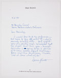 Books:Signed Editions, Dean Koontz. Autograph Letter Signed and on Koontz's Letterhead. Single page and dated 1997. Letter from Koontz to Barnaby C...