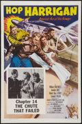 "Movie Posters:Serial, Hop Harrigan (Columbia, R-1957). One Sheet (27"" X 41"") Chapter 14--""The Chute That Failed."" Serial.. ..."