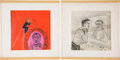 Movie/TV Memorabilia:Original Art, Ernie Kovacs' Owned Drawings.... (Total: 2 )