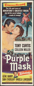"Movie Posters:Adventure, The Purple Mask (Universal International, 1955). Insert (14"" X36""). Adventure.. ..."
