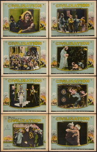 """Civilization (American Trading Ass'n., R-1923). Lobby Card Set of 8 (11"""" X 14""""). Drama. ... (Total: 8 Items)"""