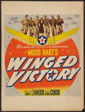 "Movie Posters:War, Winged Victory (20th Century Fox, 1944). Window Card (14"" X 18.5"").War.. ..."