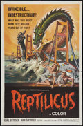 """Movie Posters:Science Fiction, Reptilicus (American International, 1961). One Sheet (27"""" X 41"""").Science Fiction.. ..."""