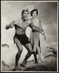 "Movie Posters:Adventure, Denny Miller and Joanna Barnes in ""Tarzan the Ape Man"" by VirgilApger (MGM, 1959). Exhibition Photo (16"" X 20""). Adventure...."