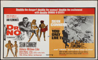 "Dr. No/You Only Live Twice Combo (United Artists, R-Late 1960s). British Quad (30"" X 40""). James Bond"
