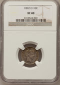 Barber Dimes: , 1892-O 10C XF40 NGC. NGC Census: (1/185). PCGS Population (3/204). Mintage: 3,841,700. Numismedia Wsl. Price for problem fr...