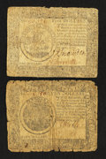 Colonial Notes:Continental Congress Issues, Continental Currency September 26, 1778 $5 and $7 Very Good.. ...(Total: 2 notes)