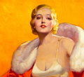 Pin-up and Glamour Art, MCCLELLAND BARCLAY (American, 1891-1943). OK Miss America, WeThank You for Your Patronage, Lucky Strike cigarette adverti...