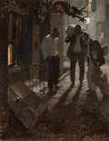 Paintings, DEAN CORNWELL (American, 1892-1960). Man at the Crossroad, Cosmopolitan magazine story illustration, 1924. Oil on canvas...