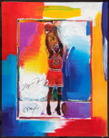 "Basketball Collectibles:Others, Michael Jordan Signed Peter Max ""Upper Deck Authenticated"" Lithograph. ..."