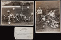 Autographs:Bats, 1939 New York Giants vs. All Americans Original Oversized Photographs Lot of 2 - Very Rare Early Images!...