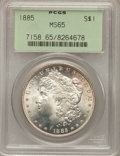 Morgan Dollars: , 1885 $1 MS65 PCGS. PCGS Population (7731/1337). NGC Census:(9135/1673). Mintage: 17,787,768. Numismedia Wsl. Price for pro...