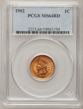 Indian Cents: , 1902 1C MS64 Red PCGS. PCGS Population (257/187). NGC Census:(284/450). Mintage: 87,376,720. Numismedia Wsl. Price for pro...