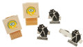 Football Collectibles:Others, 1960's Green Bay Packers Team Issued Jewelry Set (5) and Original Stationery (4)....