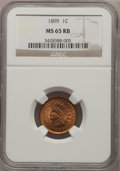 Indian Cents: , 1899 1C MS65 Red and Brown NGC. NGC Census: (366/69). PCGSPopulation (112/5). Mintage: 53,600,032. Numismedia Wsl. Price f...