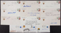 Baseball Collectibles:Others, Baseball Stars Signed First Day Covers Lot of 12....
