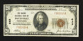 National Bank Notes:Pennsylvania, Pottsville, PA - $20 1929 Ty. 1 The Miners' NB Ch. # 649. ...
