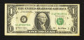 Error Notes:Ink Smears, Fr. 1926-C $1 2001 Federal Reserve Note. Very Fine.. ...