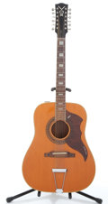Musical Instruments:Acoustic Guitars, VOX Folk Twelve Natural 12 String Acoustic Guitar #441285....