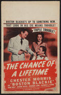 "The Chance of a Lifetime (Columbia, 1943). Window Card (14"" X 22""). Crime"