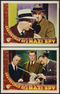 """Confessions of a Nazi Spy (Warner Brothers, 1939). Lobby Cards (2) (11"""" X 14""""). Drama. ... (Total: 2 Items)"""