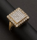 Estate Jewelry:Rings, Lady's Pave Diamond Ring. ...