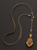 Estate Jewelry:Necklaces, Victorian Gold & Gilt Locket & Necklace. ...