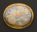 Estate Jewelry:Cameos, Large Cameo Bouquet In Gold Frame. ...