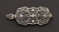 Estate Jewelry:Brooches - Pins, White Gold Filigree Pin/Pendant. ...