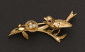 Estate Jewelry:Brooches - Pins, Gold & Pearl Pin. ...